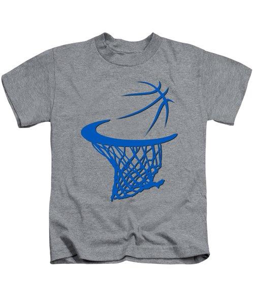 Magic Basketball Hoop Kids T-Shirt by Joe Hamilton