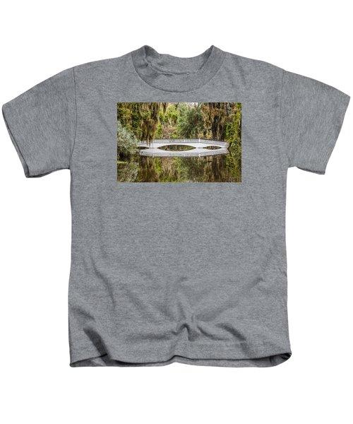 Magnolia Plantation Gardens Bridge Kids T-Shirt