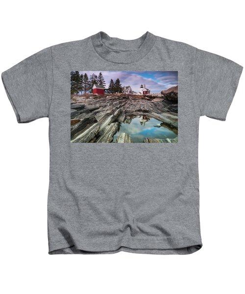 Maine Pemaquid Lighthouse Reflection Kids T-Shirt