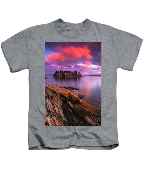Maine Pound Of Tea Island Sunset At Freeport Kids T-Shirt