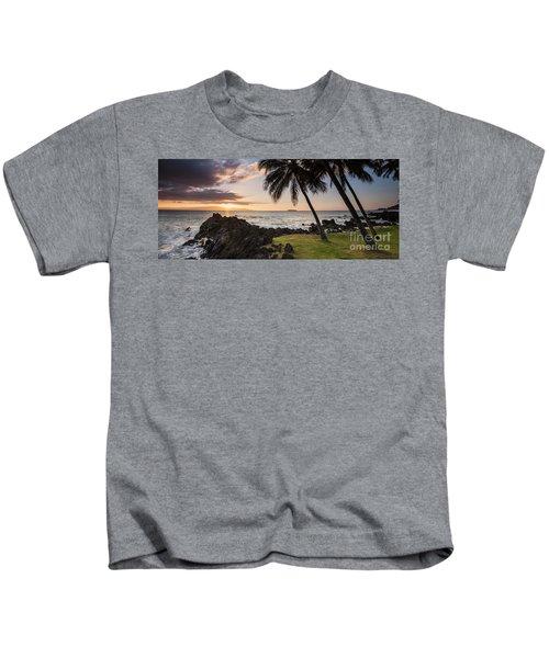 Makena Sunset Maui Hawaii Kids T-Shirt