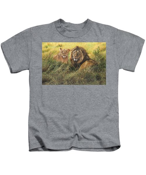 Male And Female Lion Kids T-Shirt