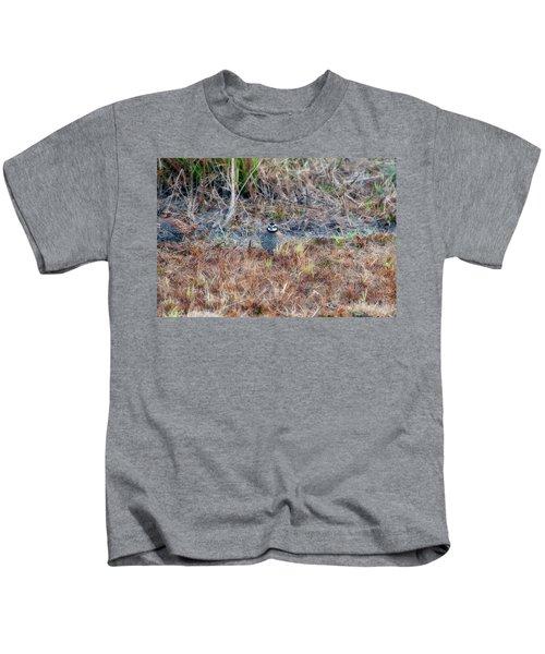 Male Quail In Field Kids T-Shirt