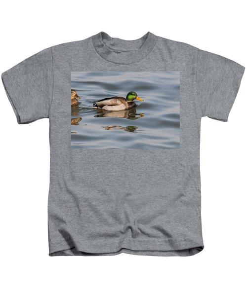 Mallards And Reflection Kids T-Shirt