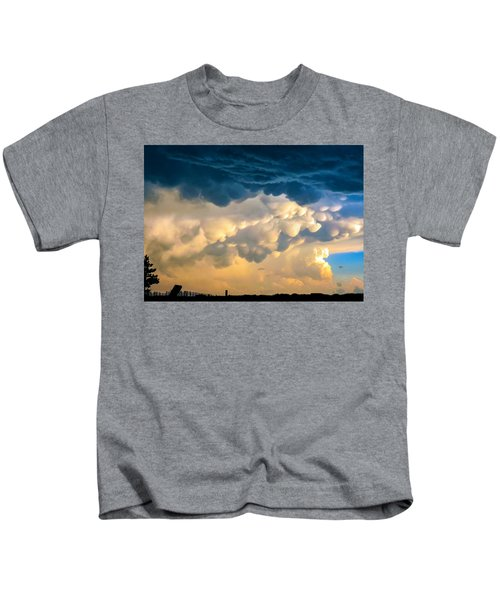 Mammatus Clouds At Sunset Kids T-Shirt