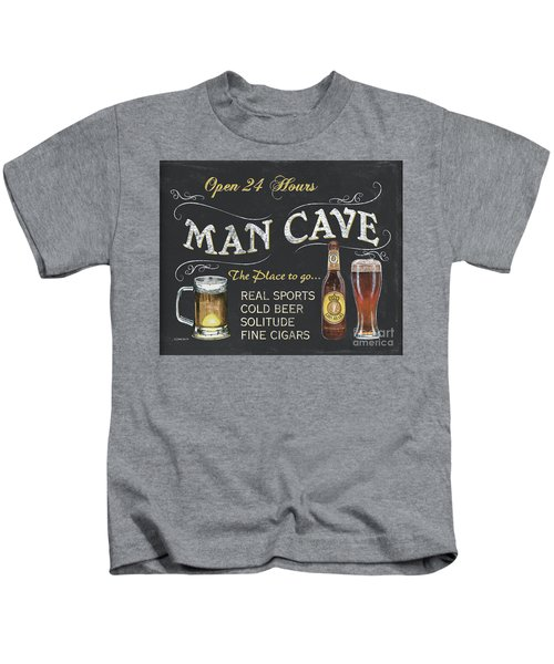 Man Cave Chalkboard Sign Kids T-Shirt