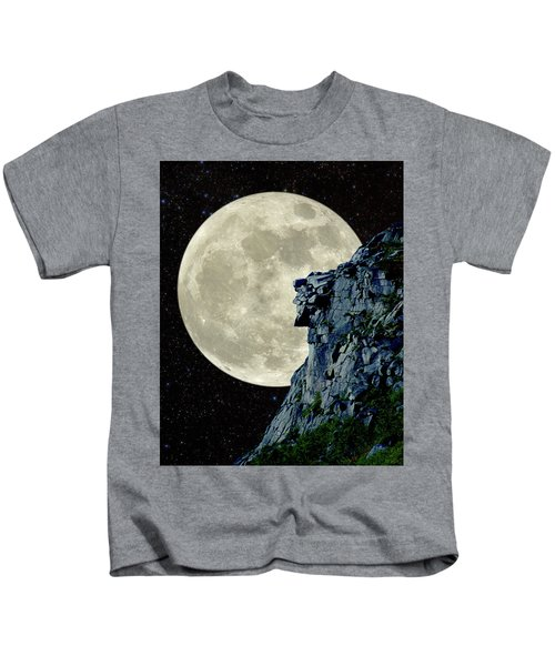Man In The Moon Meets Old Man Of The Mountain Vertical Kids T-Shirt