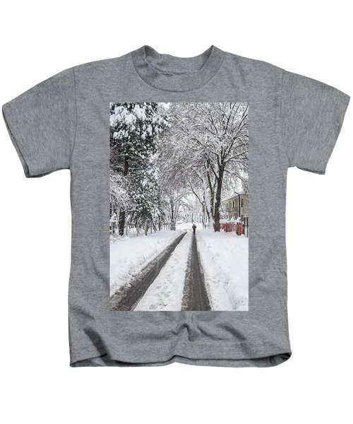 Man On The Road Kids T-Shirt