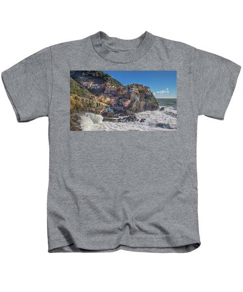 Manarola In Cinque Terre  Kids T-Shirt