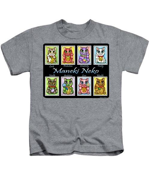 Maneki Neko Luck Cats Kids T-Shirt