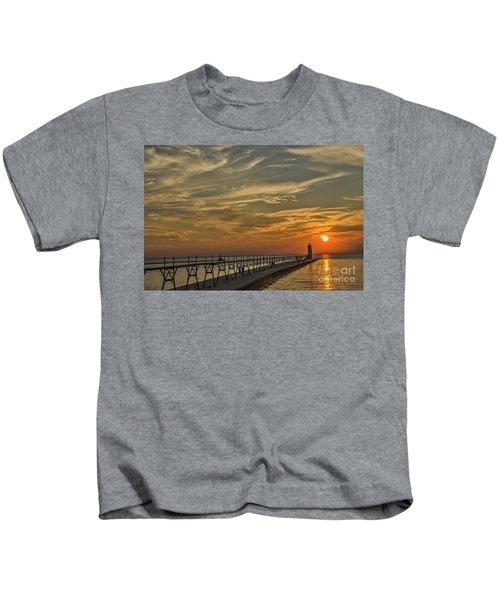 Manistee North Pierhead Lighthouse Kids T-Shirt
