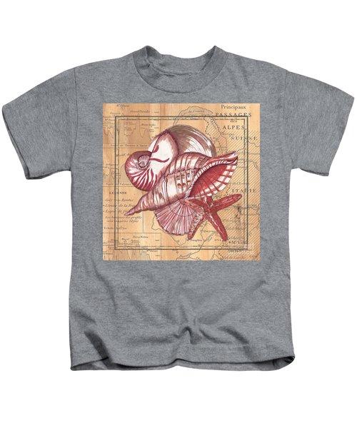 Map And Shells Kids T-Shirt