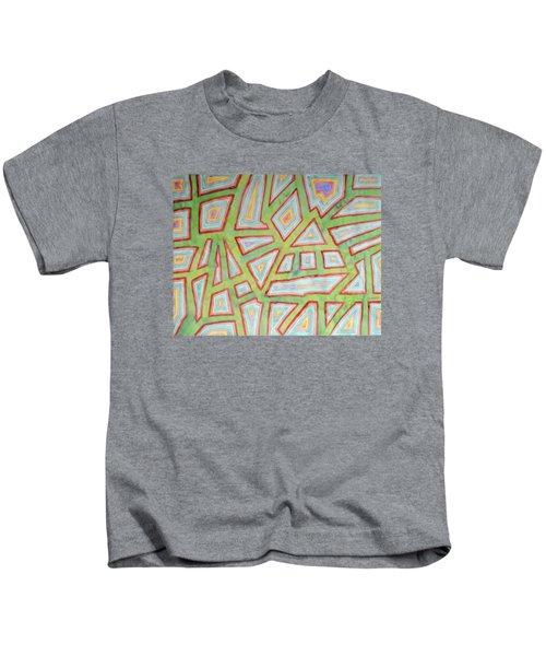 Map Pattern On Spring Green Kids T-Shirt