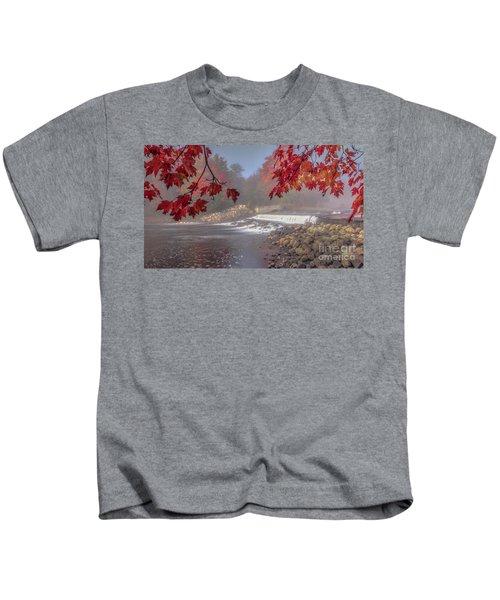 Maple Leaf Frame Ws Kids T-Shirt