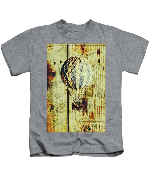 Mapping A Hot Air Balloon Kids T-Shirt