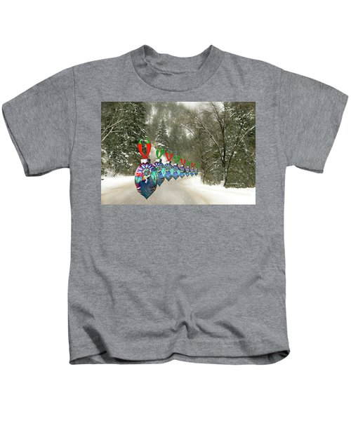 Marching Ornaments Chili Peppers Kids T-Shirt