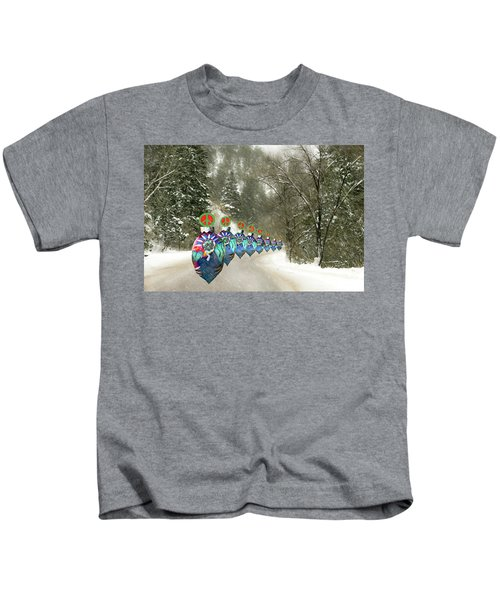 Marching Peace Ornaments Kids T-Shirt