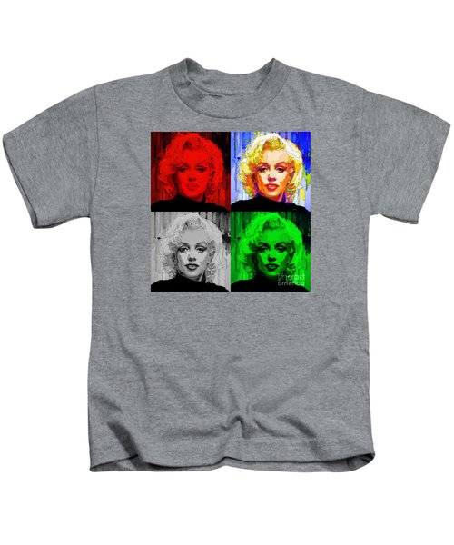 Marilyn Monroe - Quad. Pop Art Kids T-Shirt
