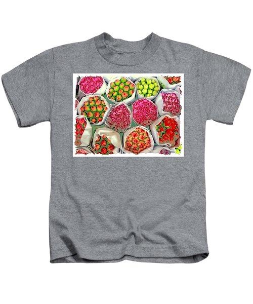 Market Flowers - Hong Kong Kids T-Shirt