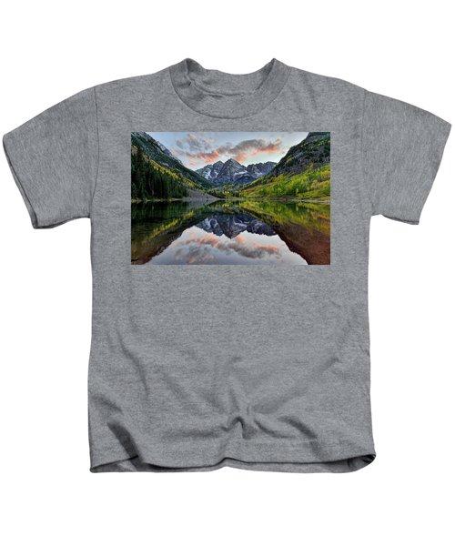 Maroon Bells Sunset Kids T-Shirt