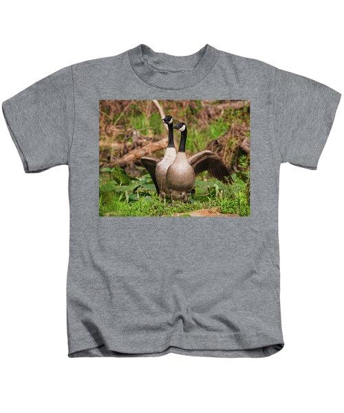 Mating Pair Guarding The Nest Kids T-Shirt
