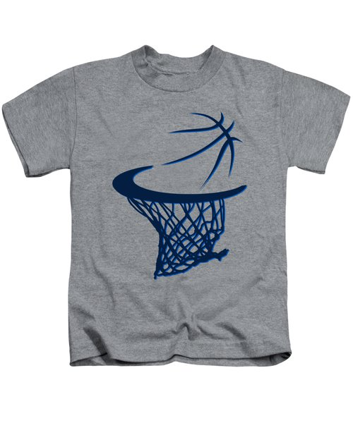 Mavericks Basketball Hoops Kids T-Shirt by Joe Hamilton