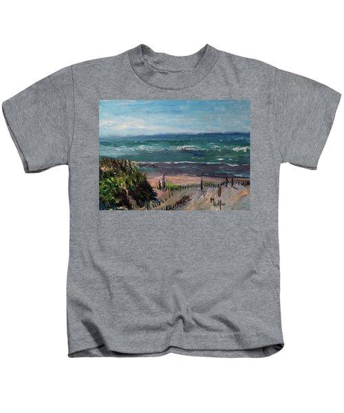 Mayflower Beach Kids T-Shirt