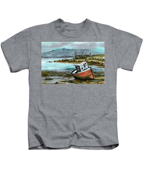 Mayo..red Boat At Coraun. Kids T-Shirt