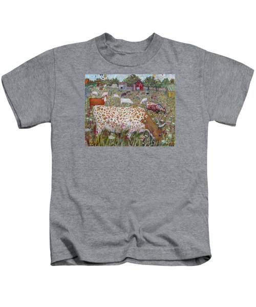 Meadow Farm Cows Kids T-Shirt