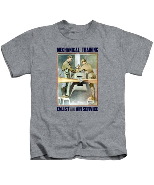 Mechanical Training - Enlist In The Air Service Kids T-Shirt