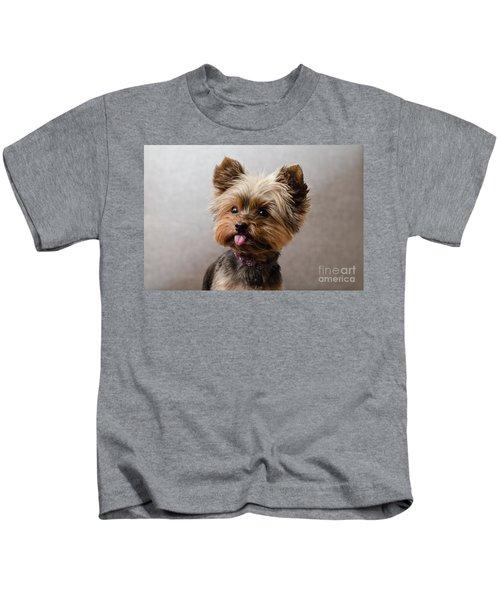 Melanie In Grey Kids T-Shirt