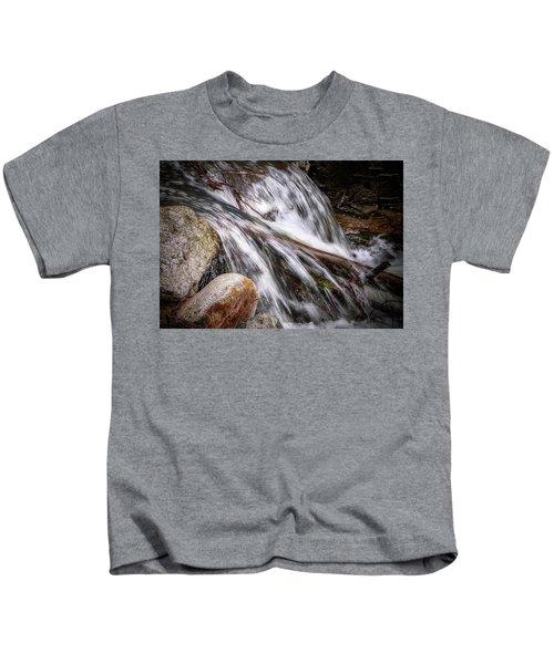 Melting Snow Falls Kids T-Shirt