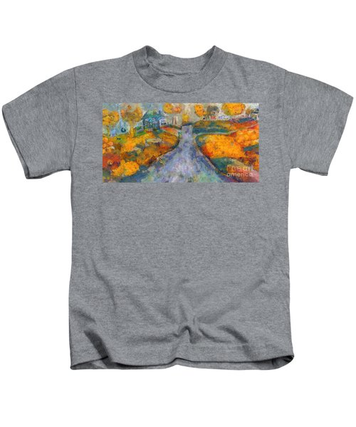 Memories Of Home In Autumn Kids T-Shirt