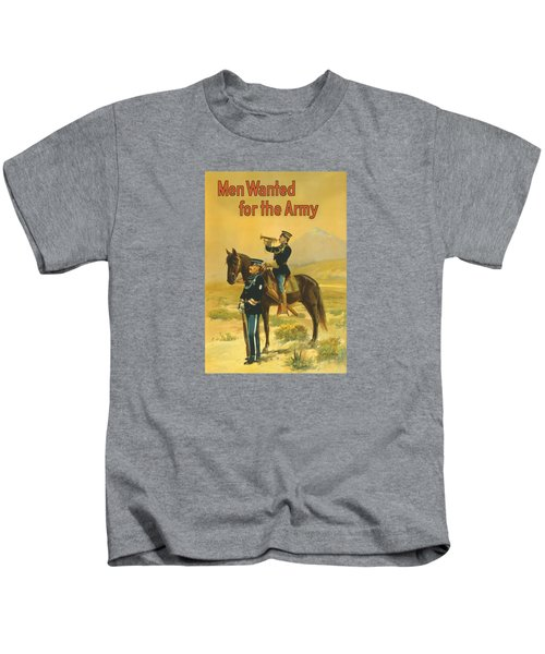 Men Wanted For The Army Kids T-Shirt by War Is Hell Store