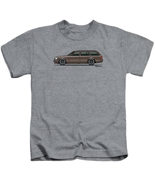 Mercedes Benz W124 E-class 300te Wagon - Anthracite Grey Kids T-Shirt by Monkey Crisis On Mars