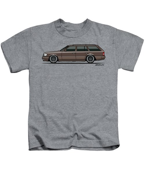 Mercedes Benz W124 E-class 300te Wagon - Anthracite Grey Kids T-Shirt