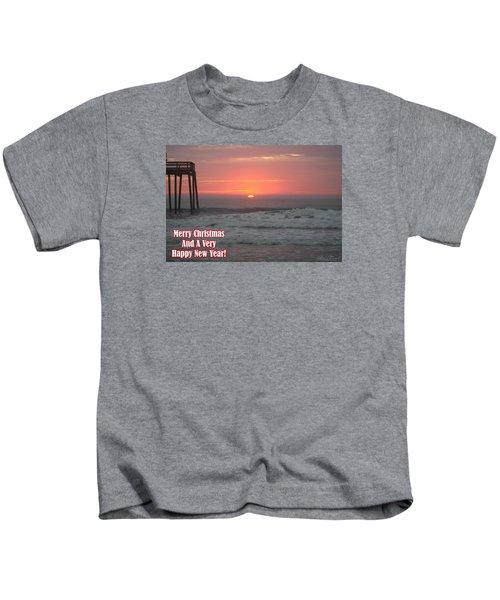 Merry Christmas Sunrise  Kids T-Shirt