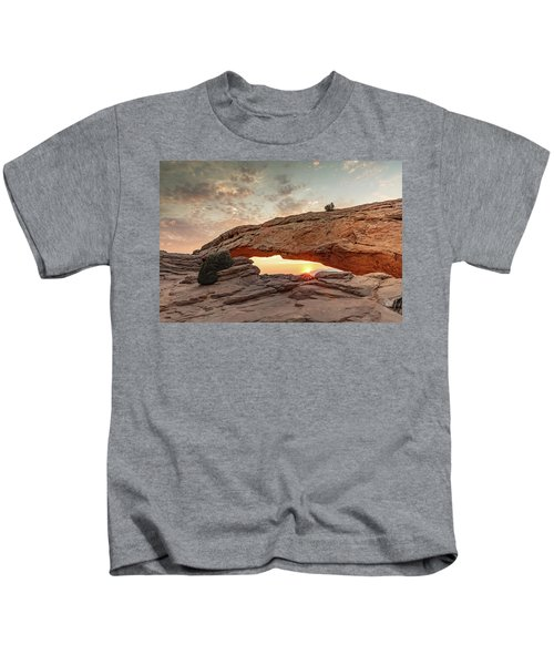 Mesa Arch At Sunrise Kids T-Shirt