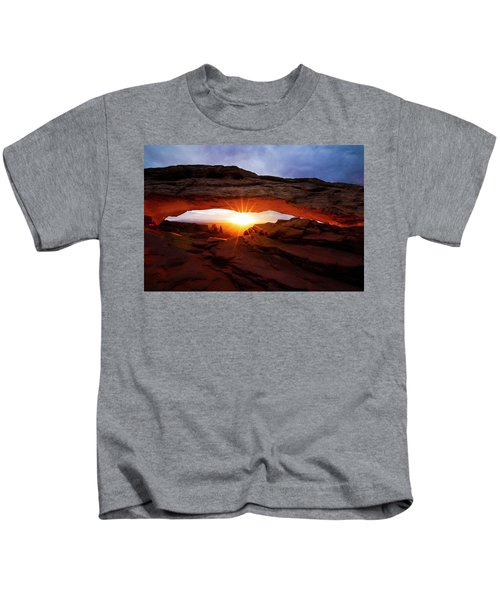 Mesa Arch Sunrise Kids T-Shirt