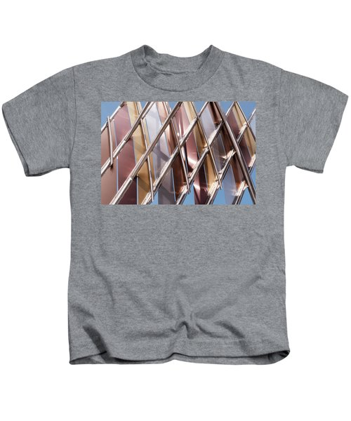 Metal Abstract With Lines And Angles In Lansing Michigan Kids T-Shirt
