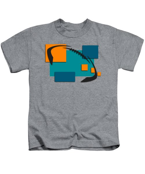 Miami Dolphins Abstract Shirt Kids T-Shirt by Joe Hamilton