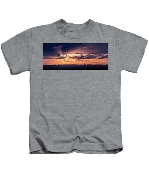 Miami Sunset Pano Kids T-Shirt