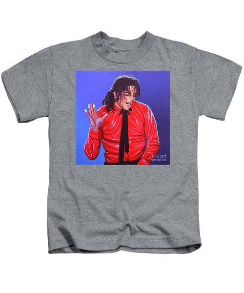 Michael Jackson 2 Kids T-Shirt by Paul Meijering