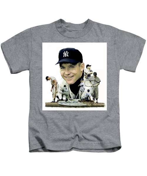 Mickey Mantle Legacy, II  Kids T-Shirt by Iconic Images Art Gallery David Pucciarelli