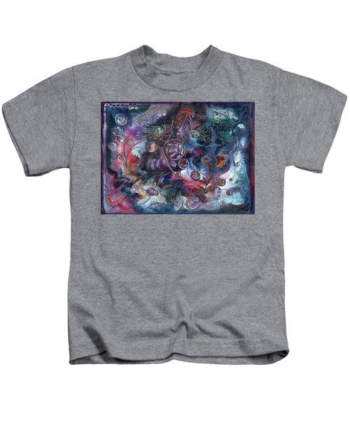 Midnight Dancing Bubbles Kids T-Shirt