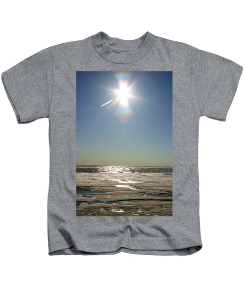 Midnight Sun Over The Arctic Kids T-Shirt