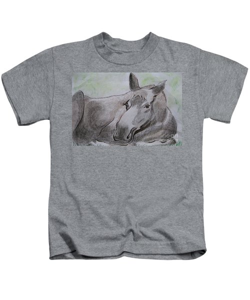 Mildred The Moose Resting Kids T-Shirt
