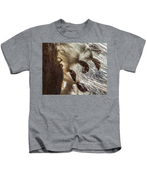 Milkweed Seed Burst Kids T-Shirt