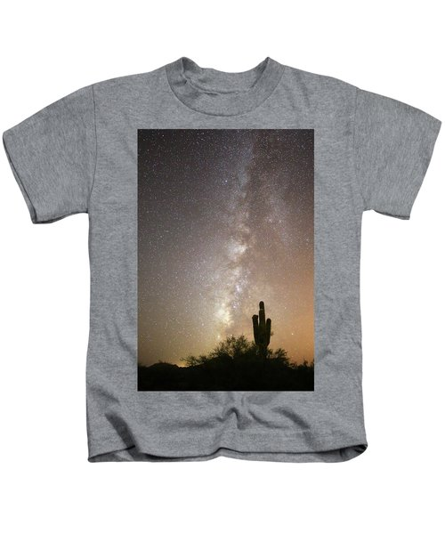 Milky Way And Saguaro Cactus Kids T-Shirt