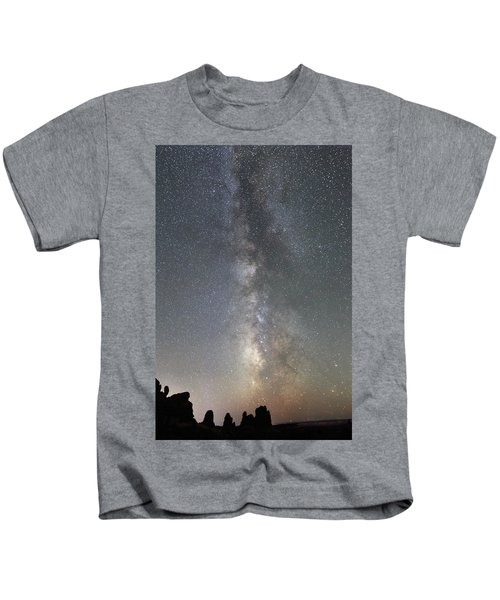 Milky Way Over Arches Np Two Kids T-Shirt